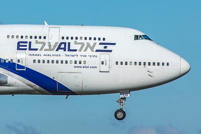 El Al Israel Airlines Boeing 747-458 4X-ELD 10-29-18 2