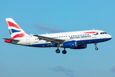 British Airways Airbus A319-131 G-EUPV 10-29-18