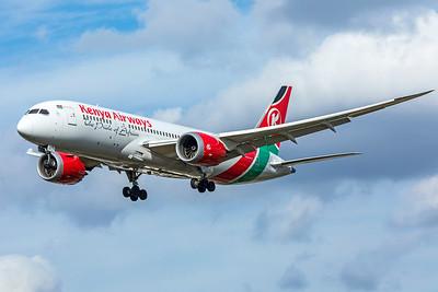 Kenya Airways Boeing 787-8 Dreamliner 5Y-KZD 9-9-18