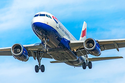 British Airways Airbus A319-131 G-EUOF 9-9-18