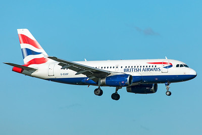 British Airways Airbus A319-131 G-EUOF 10-29-18