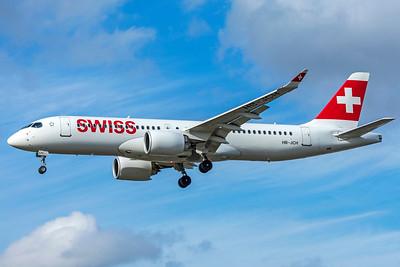 Swiss Airbus A220-300 HB-JCH 9-9-18