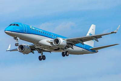 KLM Cityhopper Embraer ERJ-190-100 PH-EXF  9-9-18