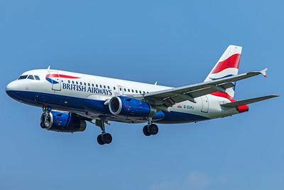 British Airways Airbus A319-131 G-EUPJ 5-8-18