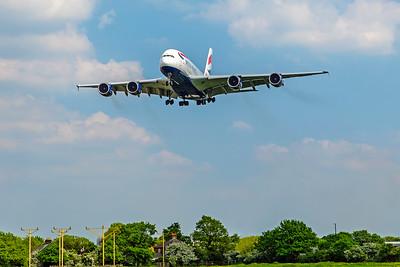British Airways Airbus A380-841 G-XLEE 5-8-18