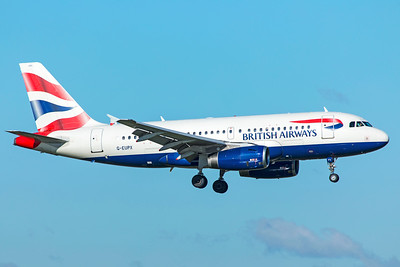 British Airways Airbus A319-131 G-EUPX 10-29-18