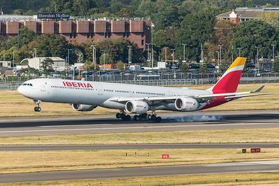 Iberia Airbus A340-642 EC-JPU 9-1-19 2