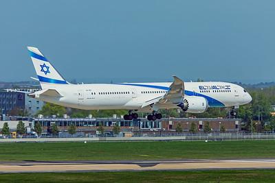 El Al Israel Airlines Boeing 787-9 Dreamliner 4X-EDI 4-19-19