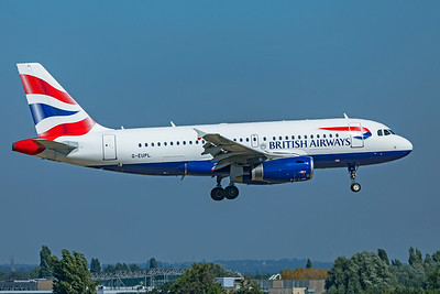 British Airways Airbus A319-131 G-EUPL 9-8-21