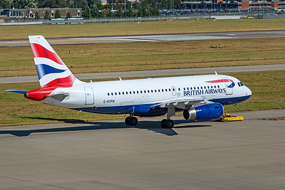 British Airways Airbus A319-131 G-EUPW 9-8-21 3