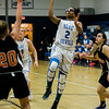 Leominster's JaVona Smith in action during the game against Marlborough on Tuesday evening. SENTINEL & ENTERPRISE / Ashley Green