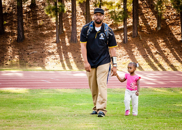 Walking with my Daddy