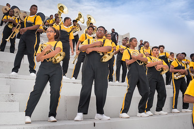 Lithonia HS Marching Bulldog Band Rocking in the stands at Lakewood Stadium