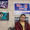 Leominster High School S.T.U.M.P. (Students for Transparency and Understanding of Municipal Politics) program met on Thursday morning, Nov. 21, 2019 before school. Leaning on the classroom wall that has many campaign poster on it  is member sophomore Sam Cavalheiro. SENTINEL & ENTERPRISE/JOHN LOVE