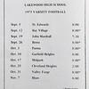 1975 Schedule