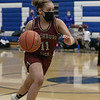 Fitchburg High School girls basketball played Leominster High School on Monday January 25, 2021 in Leominster. Taking the ball down court is FHS's #11 Alyvia Smith. SENTINEL & ENTERPRISE/JOHN LOVE