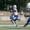 Nashoba Regional High School football played Leominster High School on Saturday afternoon, Sept. 28, 2019  in Bolton during the Ken Tucker Memorial Game. LHS's #6 quarterback JC Cora Jr. SENTINEL & ENTERPRISE/JOHN LOVE
