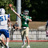 Nashoba Regional High School football played Leominster High School on Saturday afternoon, Sept. 28, 2019  in Bolton during the Ken Tucker Memorial Game. NRHS's #1 quarterback Josh DiGeronimo. SENTINEL & ENTERPRISE/JOHN LOVE