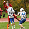 12 Mike Viola and Anthony Dandini block the ST Johns receiver from catching the ball