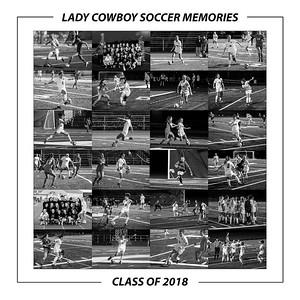Lady Cowboy Soccer - Class of 2018 BW