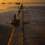 Wharf at dusk  -  Charron