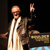 "Peter Fonda comes on stage to accept the Pinnacle Award from BIFF.<br /> The closing night of the 2013 Boulder International Film Festival featured an interview with Peter Fonda.<br /> For more photos and a video of Peter Fonda, go to  <a href=""http://www.dailycamera.com"">http://www.dailycamera.com</a>.<br />  Cliff Grassmick  / February 17, 2013"