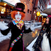 """Adam Jimenez, playing the Mad Hatter, and Ihsah Larsen, playing Jack Sparrow, wait to greet guests outside the Boulderado Hotel.<br /> The stars came out for Opening night of the Boulder International Film Festival on Thursday.<br /> For more photos of the red carpet, go to  <a href=""""http://www.dailycamera.com"""">http://www.dailycamera.com</a>.<br /> Cliff Grassmick / February 14, 2013"""