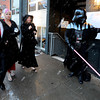 "David Taylor, playing Darth Vader,  one of the greeters for the opening night festivities , shows the way for  guests, Luke Johnston and his wife Mary, along with Robin Beeck.<br /> The stars came out for Opening night of the Boulder International Film Festival on Thursday.<br /> For more photos of the red carpet, go to  <a href=""http://www.dailycamera.com"">http://www.dailycamera.com</a>.<br /> Cliff Grassmick / February 14, 2013"