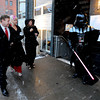 "David Taylor, playing Darth Vader,  one of the greeters for the opening night festivities , shows the way for  guests, Luke Jonston and his wife Mary, along with Robin Beeck.<br /> The stars came out for Opening night of the Boulder International Film Festival on Thursday.<br /> For more photos of the red carpet, go to  <a href=""http://www.dailycamera.com"">http://www.dailycamera.com</a>.<br /> Cliff Grassmick / February 14, 2013"