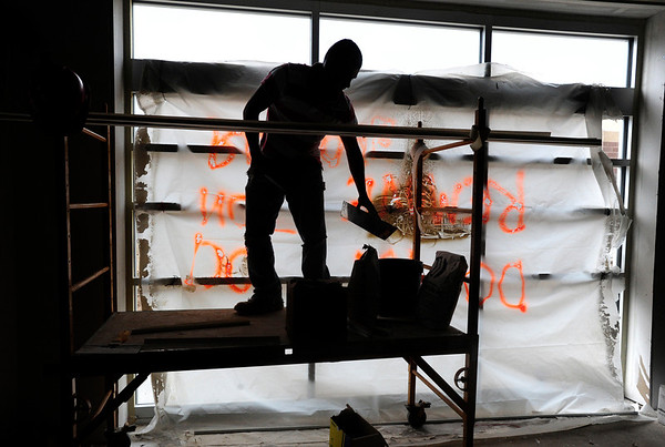 "PRESCHOOL02.JPG PRESCHOOL<br /> Eliel Estrada works on the new preschool facility being built at Monarch K-8 school on Thursday. For a video of the tour, see  <a href=""http://www.dailycamera.com"">http://www.dailycamera.com</a>.<br /> <br /> Photo by Marty Caivano/July 14, 2011"