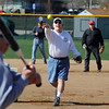 "Ken Newsom pitches to Ken Schmitt during senior softball practice on April 4, 2012.<br /> For a video and more photos of the team, go to  <a href=""http://www.broomfieldenterprise.com"">http://www.broomfieldenterprise.com</a>.<br /> Cliff Grassmick / April 4, 2012"
