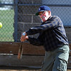 "Mike Scott-Burke hits the ball to the outfield during senior softball practice on April 4, 2012.<br /> For a video and more photos of the team, go to  <a href=""http://www.broomfieldenterprise.com"">http://www.broomfieldenterprise.com</a>.<br /> Cliff Grassmick / April 4, 2012"
