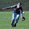 "Joe Vigh runs in to make a catch during senior softball practice on April 4, 2012.<br /> For a video and more photos of the team, go to  <a href=""http://www.broomfieldenterprise.com"">http://www.broomfieldenterprise.com</a>.<br /> Cliff Grassmick / April 4, 2012"