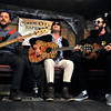 From left, Toby Leaman, Scott McMicken, and Frank McElroy of  Philadelphia-based band Dr. Dog performs an acoustic set at Conor O'Neil's in Boulder on Tuesday, Oct. 26, 2010. <br /> CAMERON REDWINE / Camera