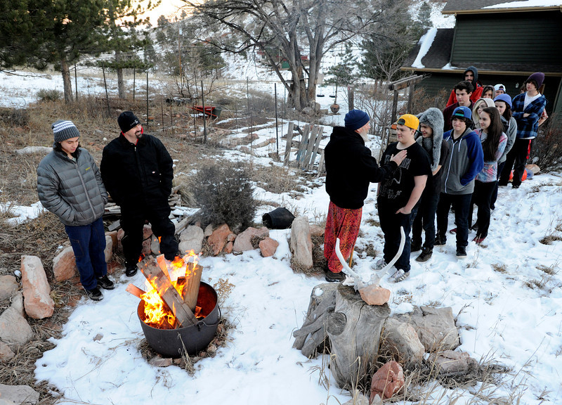 "Current and former Fire Mountain residents come to an initiation ceremony for Claire and Alex.<br /> Fire Mountain Sober Home in Boulder is where teens ages 13-17 live for 4-14 months to hit the reset button,<br /> get sober,  get the life skills they need to succeed,<br /> become empowered and develop self-concept, and re-integrate back into their communities as responsible, contributing young adults.<br /> For more photos and a video from Fire Mountain, go to  <a href=""http://www.dailycamera.com"">http://www.dailycamera.com</a>.<br /> Cliff Grassmick  / January 4, 2013"