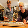 """Diana Tripp, right,  teaches Jocelyn Hunter, left, the art of painting with pastel, Friday, April 6, 2012, Lafayette.<br /> For more photos visit  <a href=""""http://www.dailycamera.com"""">http://www.dailycamera.com</a><br /> Photo by Derek Broussard"""