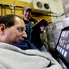 "Imagine! client Gerald Stopa, helps take inventory using his DynaVox machine with Justin Tilotta at Twisted Pine Brewery in Boulder.<br /> For more photos and a video of Stopa, go to  <a href=""http://www.dailycamera.com"">http://www.dailycamera.com</a>.<br /> Cliff Grassmick / April 19, 2012"