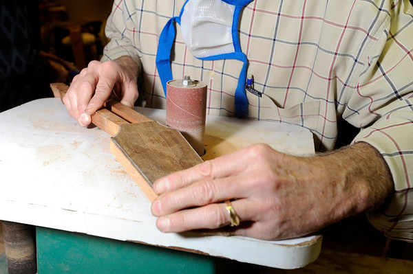 """on Tuesday, Jan. 24, at Jonas Guitar shop at 7648 Arapahoe Rd. in Boulder. For a video of the guitar building process go to  <a href=""""http://www.dailycamera.com"""">http://www.dailycamera.com</a><br />  Jeremy Papasso/ Camera"""