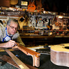 "Terry Kenyon, of Boulder, works on his custom guitar on Tuesday, Jan. 24, at the Jonas Guitar shop at 7648 Arapahoe Rd. in Boulder. For a video of the guitar building process go to  <a href=""http://www.dailycamera.com"">http://www.dailycamera.com</a><br />  Jeremy Papasso/ Camera"