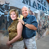 Cheryl and Bill Hopkins started the Lafayette Collectibles and Flea Market in 1990. Here they pose outside the store in Lafayette on Tuesday April 21, 2012.<br /> <br /> Photo by Paul Aiken / The Boulder Camera