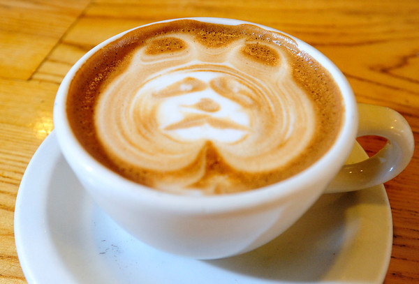 LATTE<br /> A panda latte art at The Cup in Boulder.<br /> Photo by Marty Caivano/Oct. 25, 2011