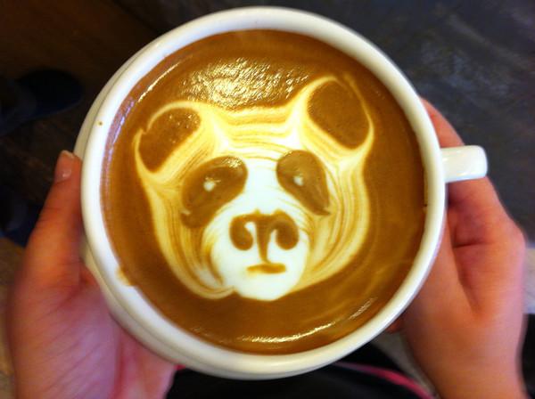 Latte art - panda<br /> <br /> Courtesy photo