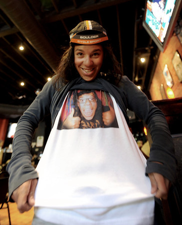 "Contestant hopeful, Cherri Sanchez, wore her photo on her shirt for the MTV interview.<br /> MTV held a casting call for the series, ""The Real World"" at the Lazy Dog Saloon in Boulder  on Saturday.<br /> For a video and more photos of the casting call, go to  <a href=""http://www.dailycamera.com"">http://www.dailycamera.com</a> or  <a href=""http://www.coloradodaily.com"">http://www.coloradodaily.com</a>.<br /> Cliff Grassmick / April 7, 2012"