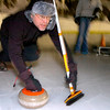 "Steve Cser delivers a rock during play of the Nederland Curling Club at the NedRINK - Nederland Ice & Racquet Park on Monday February 15, 2010.<br /> Photo by Paul Aiken / The Camera<br /> Watch a video of the Nederland Curling Club at  <a href=""http://www.dailycamera.com"">http://www.dailycamera.com</a>"