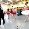 """Theater- Nutcracker124.JPG Peter Davison, left, of the Boulder Ballet Company, directs rehearsal of """"The Nutcracker.""""<br /> The Boulder Ballet Company is performing """"The Nutcracker.""""<br /> Cliff Grassmick / November 19, 2011"""