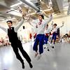 "Theater- Nutcracker289.JPG Peter Davison, left, of the Boulder Ballet Company, directs  a juggling scene during rehearsal of ""The Nutcracker.""<br /> The Boulder Ballet Company is performing ""The Nutcracker.""<br /> Cliff Grassmick / November 19, 2011"