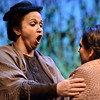 "Julie Silver, left, sings to Maggie Sczekan in a scene during a dress rehearsal for the opera ""Ludlow"" on Thursday, May 30, at the ATLAS Black Box Theatre on the University of Colorado campus in Boulder. For more photos and video of the dress rehearsal go to  <a href=""http://www.dailycamera.com"">http://www.dailycamera.com</a><br /> Jeremy Papasso/ Boulder Daily Camera"
