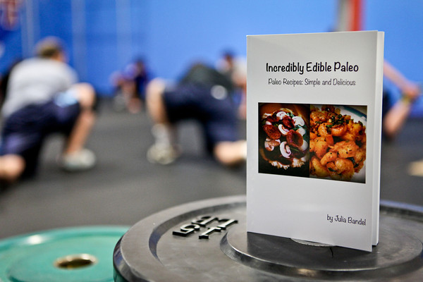 20120206_CROSSFIT_COOKBOOK.jpg Julia Bandel's paleo diet cookbook.  CrossFit in Louisville, Colo. on Monday, Feb. 6, 2012. (Morgan Varon)