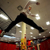 "Levi Satter jumps from locker to locker inside Fairview High School during a Fairview Club Parkour workout.<br /> For more photos of the Parkour, go to  <a href=""http://www.dailycamera.com"">http://www.dailycamera.com</a>.<br /> Cliff Grassmick/ January 29, 2010"
