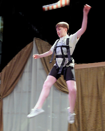 "Joe Connors, 14, practices flying during a rehearsal for Peter Pan at the Boulder Dinner Theatre on May 6, 2010. For a video of the actors in flight and a photo gallery, visit  <a href=""http://www.dailycamera.com"">http://www.dailycamera.com</a><br /> Stephen Swofford / Daily Camera"
